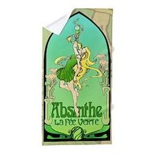Absinthe Art Nouveau Beach Towel