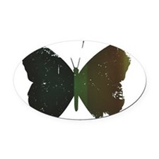GREEN BUTTERFLY Oval Car Magnet