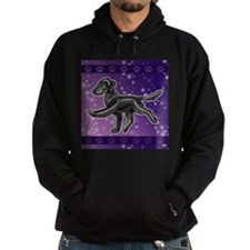 Flat Coated Retriever Night Sky Hoodie