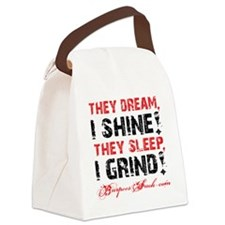 I SHINE I GRIND - WHITE Canvas Lunch Bag