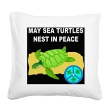 SEA TURTLES - NEST IN PEACE Square Canvas Pillow