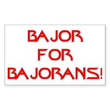 Bajor for Bajorans Sticker (Rectangle)