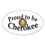 Cherokee Oval Bumper Stickers