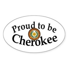Cherokee Oval Decal