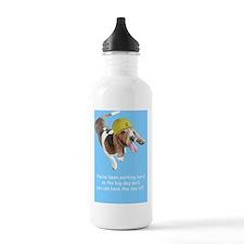 Basset Hound Birthday  Sports Water Bottle