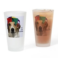 Beagle Birthday Card Drinking Glass