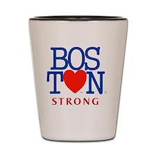 Boston Heart Strong Boston Marathon Red Shot Glass