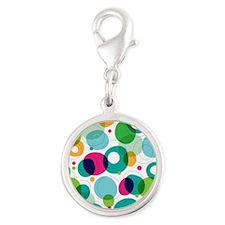 Fun Bubbles Silver Round Charm