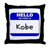 hello my name is kobe  Throw Pillow