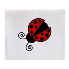 Red Ladybug 1 Throw Blanket
