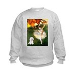 Ballet Dancer & Bichon Kids Sweatshirt