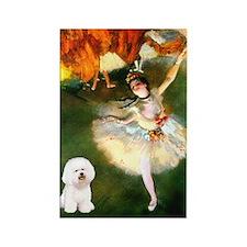 Ballet Dancer & Bichon Rectangle Magnet