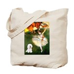 Ballet Dancer & Bichon Tote Bag