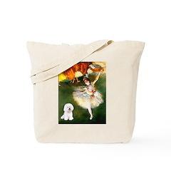 Ballet Dancer & Bichon Tote Bag
