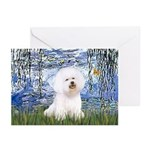 Lilies (6) & Bichon Greeting Cards (Pk of 10)