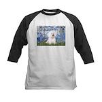 Lilies (6) & Bichon Kids Baseball Jersey