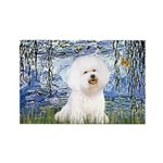 Lilies (6) & Bichon Rectangle Magnet