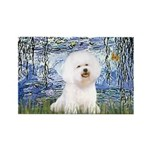 Lilies (6) & Bichon Rectangle Magnet (10 pack)