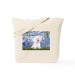 Lilies (6) & Bichon Tote Bag