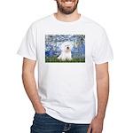 Lilies (6) & Bichon White T-Shirt