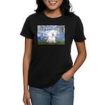 Lilies (6) & Bichon Women's Dark T-Shirt
