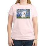 Lilies (6) & Bichon Women's Light T-Shirt
