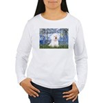 Lilies (6) & Bichon Women's Long Sleeve T-Shirt
