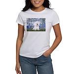 Lilies (6) & Bichon Women's T-Shirt