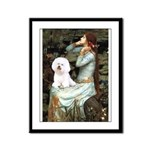 Ophelia & Bichon Framed Panel Print