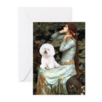 Ophelia & Bichon Greeting Cards (Pk of 10)