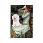 Ophelia & Bichon Rectangle Magnet