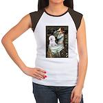 Ophelia & Bichon Women's Cap Sleeve T-Shirt