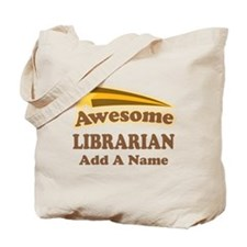 Personalized Librarian Gift Tote Bag