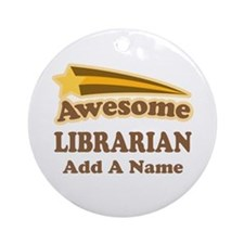 Personalized Librarian Gift Ornament (Round)