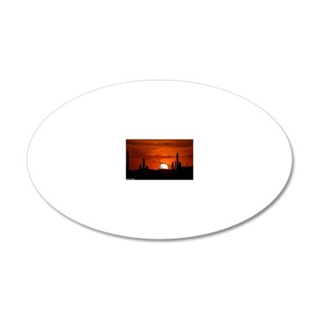 Sunset Red (Large) 20x12 Oval Wall Decal
