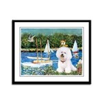 Sailboats (1) Framed Panel Print