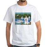 Sailboats (1) White T-Shirt
