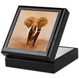 Painted Elephant Keepsake Box