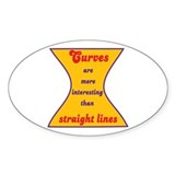 Curvy Woman Oval Decal