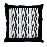 White Bengal Tiger Throw Pillow