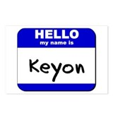 hello my name is keyon  Postcards (Package of 8)