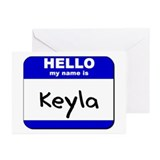 hello my name is keyla  Greeting Cards (Package of