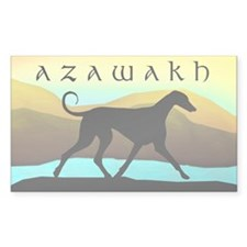 Azawakh Seaside Rectangle Decal