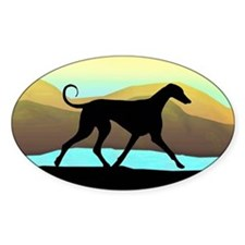 Azawakh Seaside Oval Decal