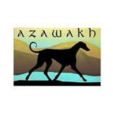 Azawakh Seaside Rectangle Magnet (10 pack)