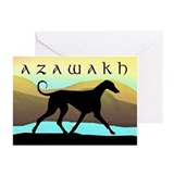 Azawakh Seaside Greeting Cards (Pk of 10)