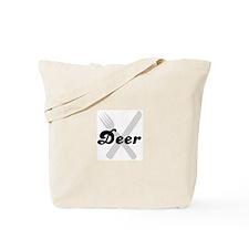 Deer (fork and knife) Tote Bag