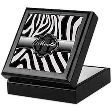 Black and White Zebra Keepsake Box