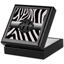 Black and White Zebra Keepsake Box