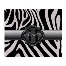 Black and White Zebra Throw Blanket